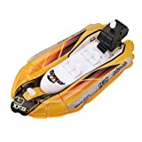 Winkey Mini Inflatable Yacht Boat Children's Bath Toy Pool Toys Motorboats Inflators, Toys for 1 2 3 4 5 6 + Years Old Baby Boy Girl (Yellow)