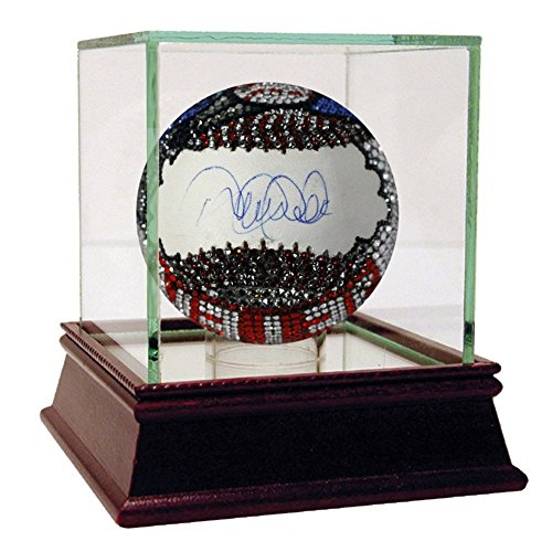 Derek Jeter Autographed MLB Baseball with Swarovski Crystal Decoration '2000 WS MVP' - Authentic (Mlb Mvp Crystal)