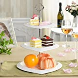 MiniInTheBox Modern Afternoon Tea. Fruit. Disc Plate Ceramic 3 Layers of Dried Fruit Cake Plate Tray Kitchen Ceramic Rack & Holder Organizer White