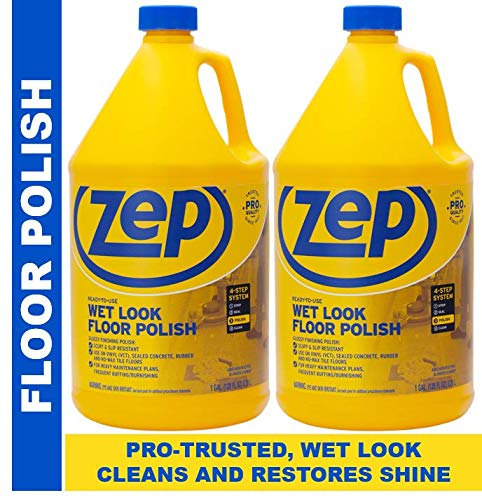 Zep WetLook Floor Polish 128 Ounces ECZUWLFF1282 Pack of 2