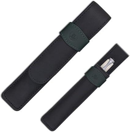 Pelikan 923409 - Estuche para bolígrafo o pluma (piel), color negro: Amazon.es: Oficina y papelería