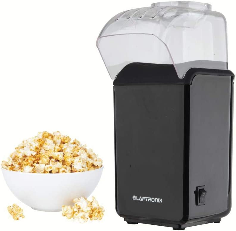 Allied UK Laptronix Fat Free Oil Free Hot Air 1200W Electric Popcorn Maker Popper Machine