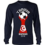 I Love Futbol Equipo Nacional Tunisia National Soccer Team 2018 Road To Russia Long Sleeve