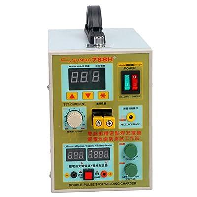 YaeTek 788H LED Dual Pulse Spot Welder 18650 Battery Charger 800 A 0.1 - 0.2 mm 36V 60A