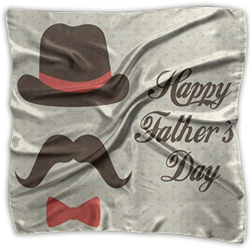 Square Scarf Happy Father's Day Polka Dot Beard Muffler Unisex Bandanas Tie For Men