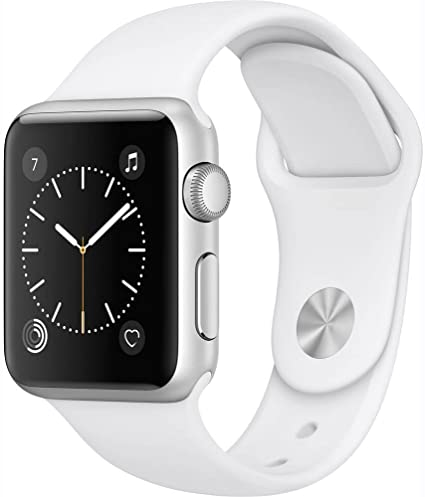 Apple Watch Series 1 Smartwatch (Silver (Stainless Steel) White Sport Band, 42 MM)(Renewed)