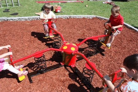 Wholesale Playgrounds RPE-5066RDB Spring-A-Bout-Red Direct Bury Rides