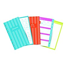 """Filofax C6343-2018 2018 Weekly Illustrated Stripes Refills, Personal Size: 6-3/4"""" x 3-3/4"""""""