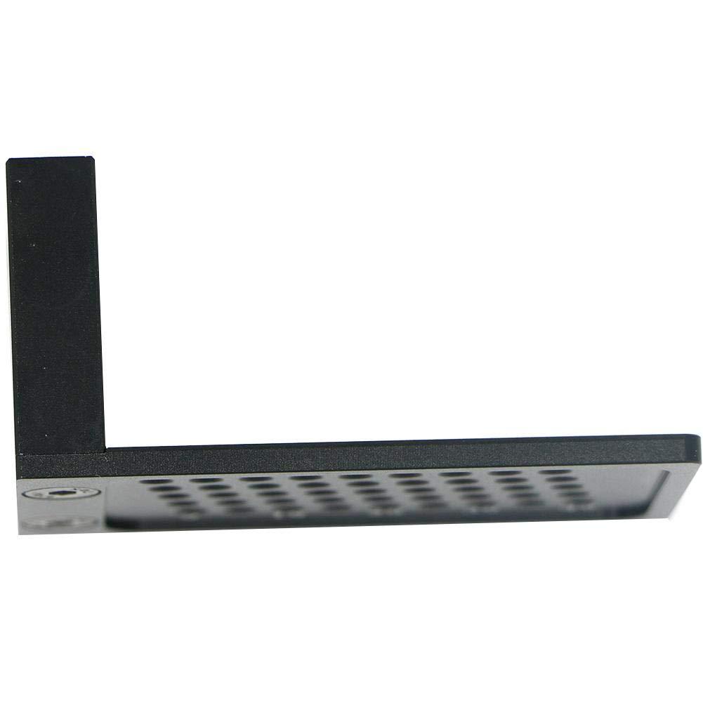 Createjia Aluminiumlegierung Messlineal Scriber T-Typ Loch Ritzlehre Gekreuzte F/ü/ße Holzbearbeitungswerkzeug 68 40 32mm