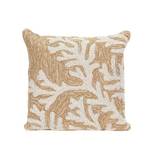 Liora Manne Whimsy Reef Life Indoor/Outdoor pillow, Neutral -18