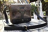 Trip Machine Company Leather Vintage Messenger Bag/Leather Satchel - Tobacco Brown