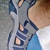 Amazon Com Teva Men S Omnium Leather Sandal Fog 8 M