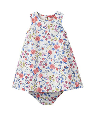 Joules Kids Baby Girl's Woven Dress with Bloomers (Infant) Beach Ditsy 9-12 Months -
