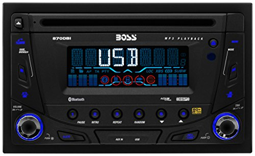 BOSS AUDIO 870DBI Double-DIN CD/MP3 Player Receiver, Bluetooth, Detachable Front Panel, Wireless Remote (Century Players)