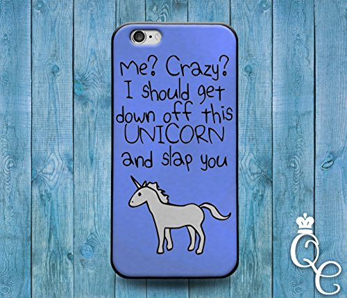 Price comparison product image *BoutiqueHouse* iPhone 4 4s 5 5s 5c SE 6 6s plus + iPod Touch 4th 5th 6th Generation Cute Custom Blue Unicorn Quote Phone Cover Weird Funny Girl Animal Case(iPhone 6 / 6S)