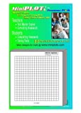 MiniPLOT Graph Paper Pads: 100 pads of 3x3 inch pre-printed Post-it Notes. 50 sheets per pad of coordinate grid design with NO axis. Grid = 20x20 squares.Use for homework, taking notes in class, tests