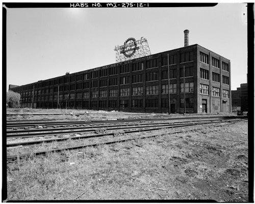 HistoricalFindings Photo: Fisher Body Company Plant,1961 East Milwaukee Avenue,Detroit,Michigan,MI,HABS