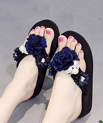 CHAOXIANG Chanclas Para Mujer Antideslizante Zapatillas De Tacón Alto Sandalias De Surf Nuevo Zapatos De Playa Del Verano ( Color : C , Tamaño : EU38/UK5/CN39 ) B