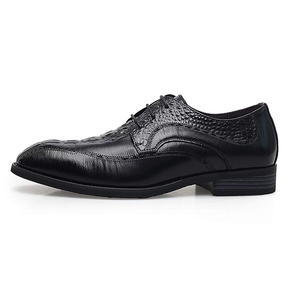 Xujw-schuhe, 2018 Schuhe Herren Herren Top Komfortable Low Top Herren Persönlichkeit Nähte Retro Formale Schuhe Mode Oxford Lässig (Farbe   Schwarz, Größe   42 EU) 0fa1f7
