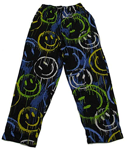 Fun Boxers Mens Smiley Fun Prints Pajama & Lounge Pants, Dripping Smiley, - Boxer Face Smiley