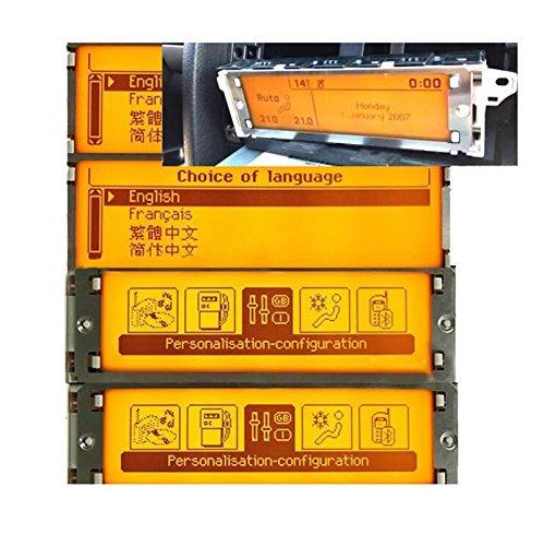Amzparts CD radio 407 Pantalla multifunci/ón para coche RD4 interfaz de 12 pines para Peugeot 307 408 y C5 AUX//MP3//USB CD cambiador color amarillo