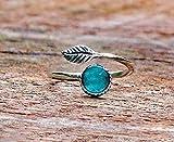 Recycled Vintage Mason Jar Sterling Silver Leaf Ring