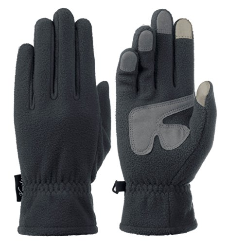 Knolee Men&Women Winter Glove Outdoor Warm Fleece Gloves With TouchScreen,Grey (Fleece Mens Glove)