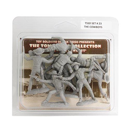 TSSD TOMBSTONE Cowboy Gunfighters: 8 GRAY 1:32 Plastic Figures ()