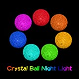 Cheap Whitelotous 7 Color Changing Crystal Ball LED Night Light Decoration Lamp