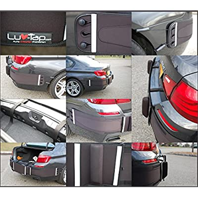 Luv-Tap BG001 - Complete Coverage Universal Fit Rear Bumper Guard for Trunk Mounted Rear License Plate Vehicles - Covers The Entire Bumper: Automotive