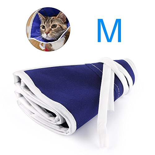 BSMTech Recovery Soft Collar for Cats,Clear Soft Adjustable Comfortable E-collar for Surgery Grooming,Protect Cat Pet Neck without Blocking Vision - Fiona Stitch