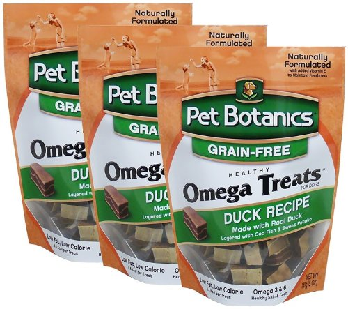 3 PACK Pet Botanics Healthy Omega Treats – Duck (18 oz), My Pet Supplies