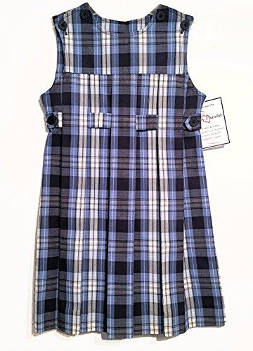 Becky Thatcher School Uniform Jumper (Model 78) Blue Plaid (Color 76) by Elderwear