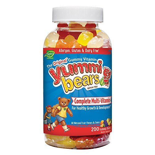 Amazon.com: Yummi Bears Multi-Vitamin & Mineral, 1Pack(200-Count Gummy Bears)  FdgvkX: Health & Personal Care