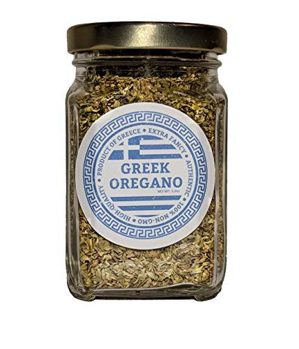 Oregano 100% Authentic Dried Greek Oregano leaves | Fresh Aromatic Herb & Spice | 1 oz Glass ()
