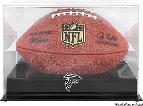 Atlanta Falcons Black Football Case (Atlanta Falcons Team Logo Football Display Case | Details: Black Base, Mirror Back)