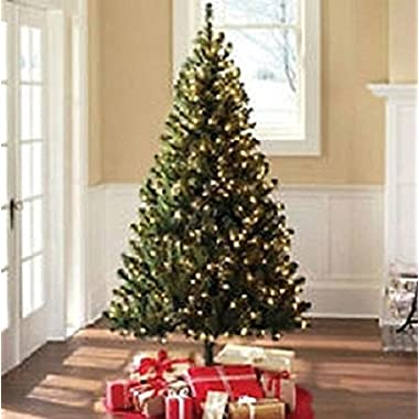 6.5 Ft Artificial Christmas Green Madison Pine Tree With Clear Lights