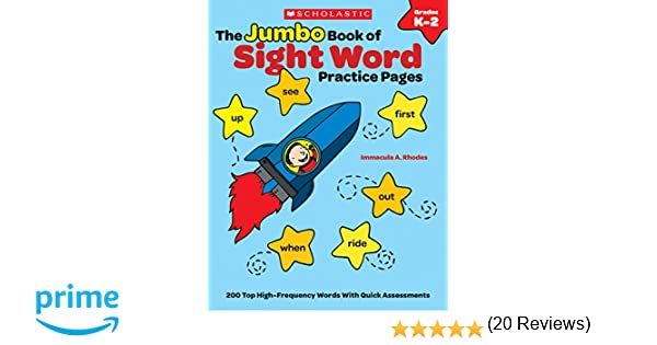 Amazon.com: The The Jumbo Book of Sight Word Practice Pages: 200 ...