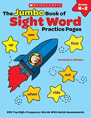 The The Jumbo Book of Sight Word Practice Pages: 200 Top High-Frequency Words With Quick Assessments (Learning Express)