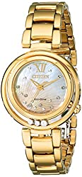 Citizen Eco-Drive Women's EM0322-53Y Citizen L Sunrise Analog Display Gold Watch