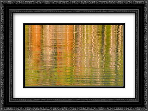 USA, Idaho Reflections on Redfish Lake 2x Matted 24x18 Black Ornate Framed Art Print by Paulson, Don (Redfish Framed)