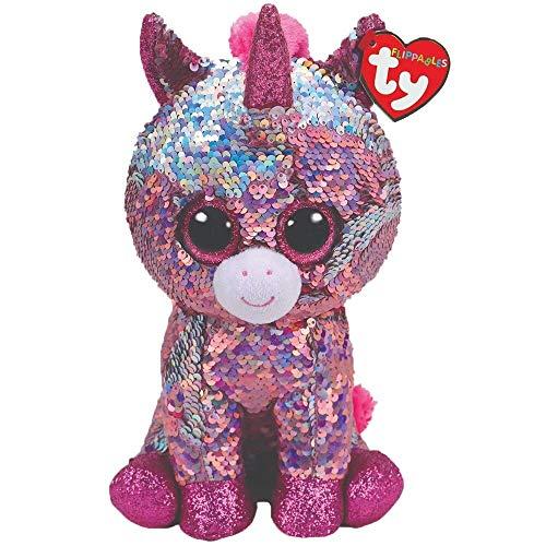 Coiny Bebe Sequin Animal Plush Toys Doll Unicorn Dog Sheep Gift for Girl 15cm Sequin Pink Unicorn