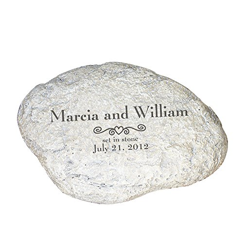 GiftsForYouNow Engraved Marriage Garden Stone, 11