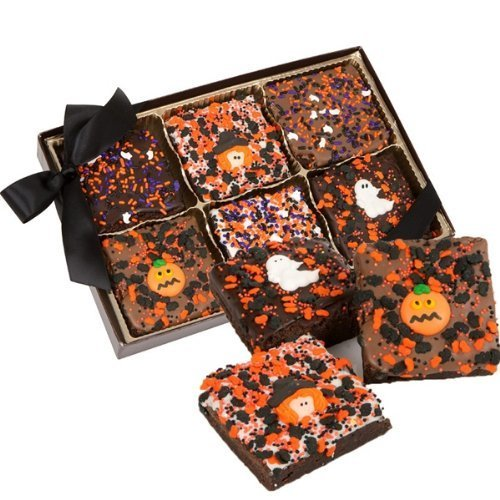 Halloween Triple Chocolate Extra Large Brownies, Gift Boxed Set of 6 (Milk Chocolate) by Lady Fortunes -