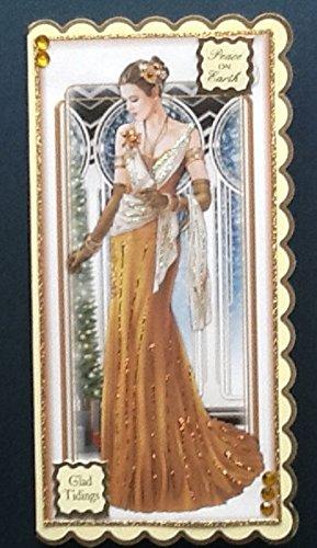 Art Deco Christmas Card Amazon Co Uk Handmade