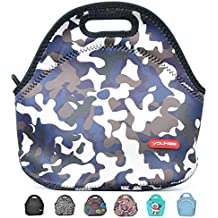 Neoprene Lunch Tote, Yookeehome Insulated Thermal Lunch Bag Box for Boys Men with Zipper, Camouflage