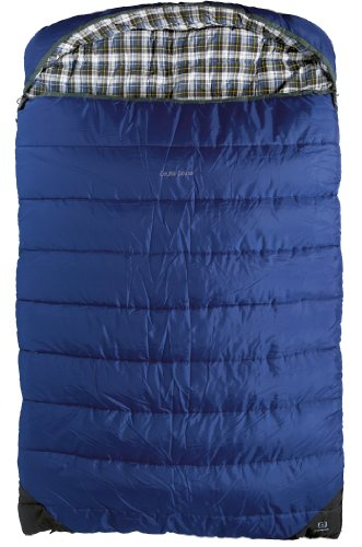 Outbound Double Deluxe 2 Person 20 Degree Sleeping Bag (Blue, Large), Outdoor Stuffs