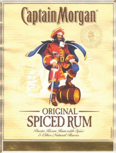 Single Source Party Supplies - Captain Morgan Spiced Rum Cake Edible Icing Image #1 - 8.0