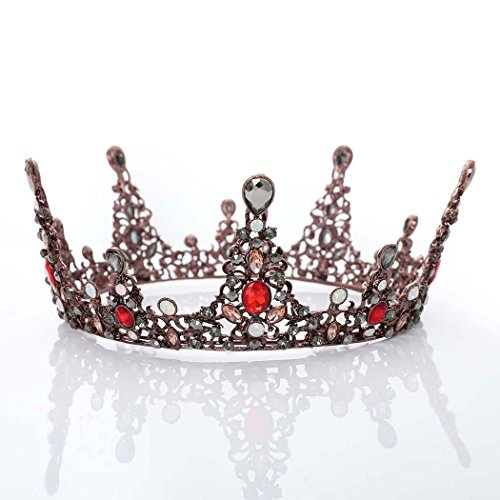 Jovono Bridal Wedding Crowns and Tiaras Baroco Queen Style Style for Women