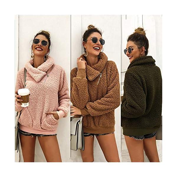 Women's Winter Lapel Sweatshirt Faux Shearling
